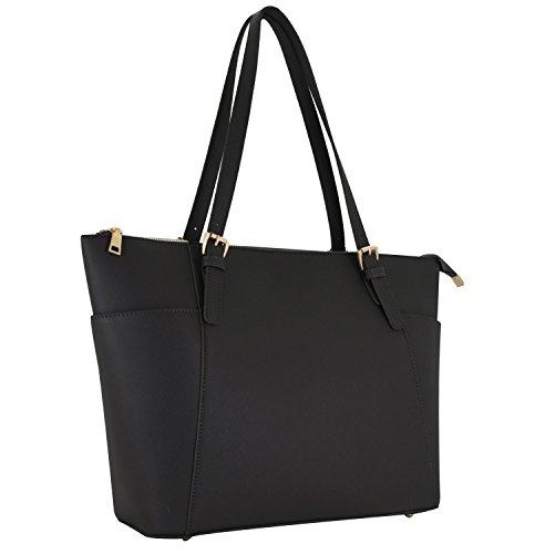 Vanessa & Melissa Damen Handtasche im Saffiano Look Shopping Bag A4