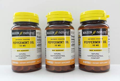 Mason Naturals, Peppermint Oil, 50 mg, 90 Softgels - 3PC