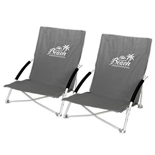 2 Stück Strandstuhl Summer-Beach inkl. Transporttasche Campingstuhl Gartenstuhl faltbar Stone Klappstuhl Anglerstuhl Faltstuhl