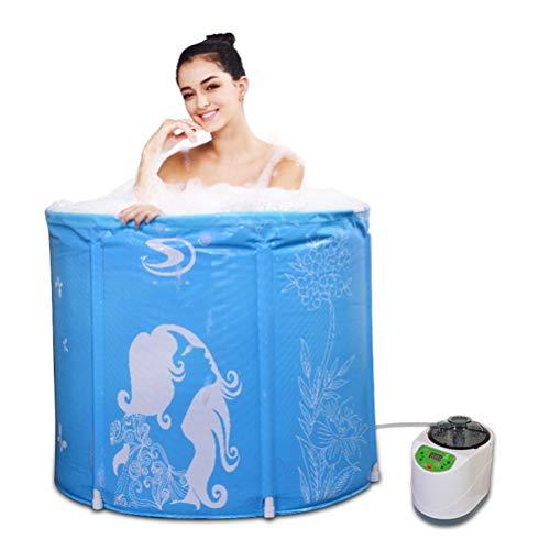 Wanforjewellery Portable Steam Sauna, Folding Tub Bath Barrel Fumigation Spa Steamer Sauna Tent(Steam Generator 2L)(Blue),2L,Large