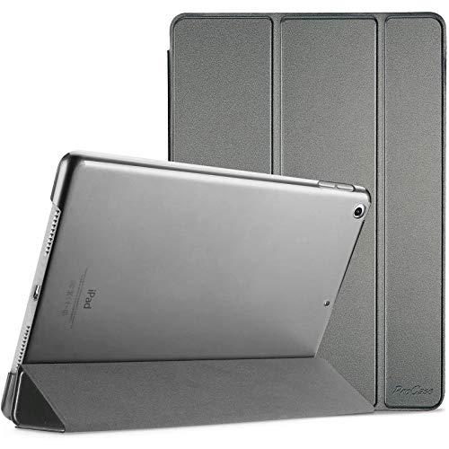 Procase Funda Delgada para iPad 8 2020 y iPad 7 2019 10.2', Carcasa Folio Ligera con Tapa Inteligente/Reverso Translúcido/Soporte para 2020 y 2019 10.2 Inch iPad 8ª / 7ª - Metálico