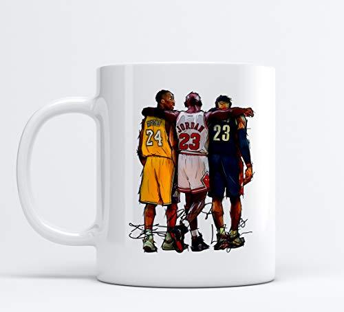 Tazza Campioni di Basket Mug Michael Jordan Lebron James Kobe Bryant Chicago Bulls Lakers Cleveland NBA Sport Eurolega Pallacanestro Thè tè