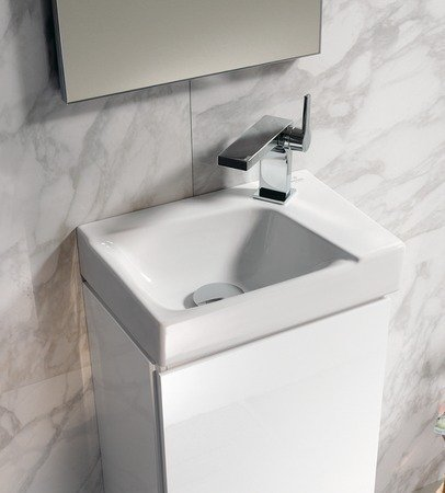 Keramag Xeno² Handwaschbecken weiß KeraTect; mit Hahnloch rechts