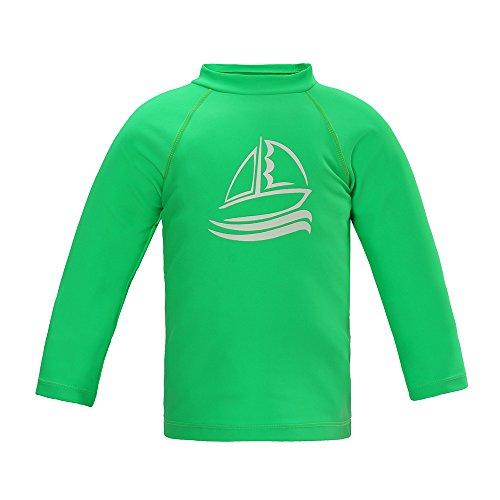 LACOFIA Traje de baño Infantil Camiseta de baño de Manga Corta para niños Rashguard con protección Solar UPF 50 + Secado rapido Verde 116