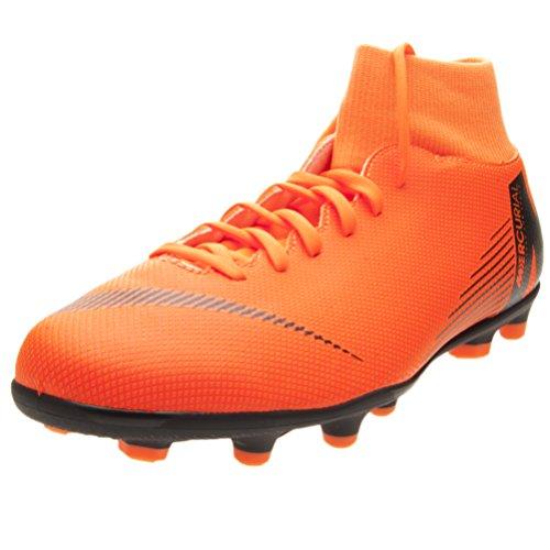 Nike Mercurial Superfly VI Club MG,Scarpe da Calcio, Adulti, 41, per Erba Sintetica (Campi in Erba Sintetica, Adulti, da Uomo, Nero, Arancione)