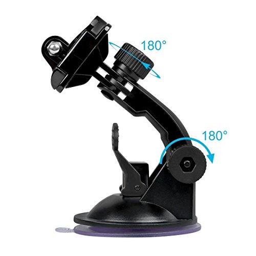 【Sametop】GoProサクションカップマウント車載吸盤式マウントGoProHero987654Session3+321FusionDJIOsmoXiaomiYiSJCAMなどのアクションカメラに対応