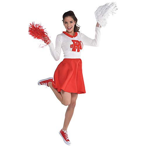 amscan Grease Rydell Cheerleader Dress ‑Women Standard Size, Red