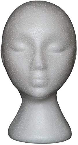 Mannequins de couture reglable Perruque, Mousse Abstraite tête malléable Manikin Modèle de tête Perruque Lunettes Cheveux Support Shop Display Retail & Maison Porte vêtement Mannequin