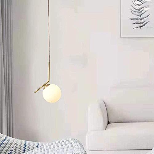 YFQH Colgando Luz de Lámpara de Brass Chandelier Restaurante Dormitorio Lámpara de Noche de Noche 20 cm,Gold