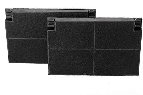 daniplus© 2 x Aktivkohlefilter, Kohlefilter, Filter 225x155mm für Dunstabzugshaube Elica, Electrolux EFF55, 50232980008