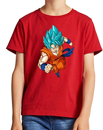 The Fan Tee Camiseta de NIÑOS Dragon Ball Goku Vegeta Bolas de Dragon Super Saiyan 076 3-4 años
