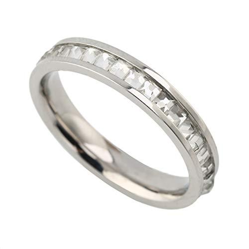 Ontwerp Legering Titanium Diamant Kristal Ringen Gouden Verzilverd Oneindig Ring Statement Sieraden voor Bruiloft Dames Sieraden Zilver