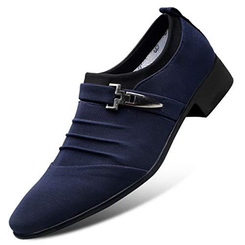 Zapatos De Vestir para Hombre De Negocios Resbalón Transpirable En El Dedo...