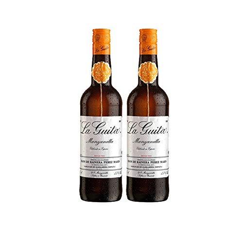 Vino Manzanilla la Guita de 75 cl - D.O. Manzanilla Sanlucar de Barrameda - Bodegas Grupo Estevez (Pack de 2 botellas)