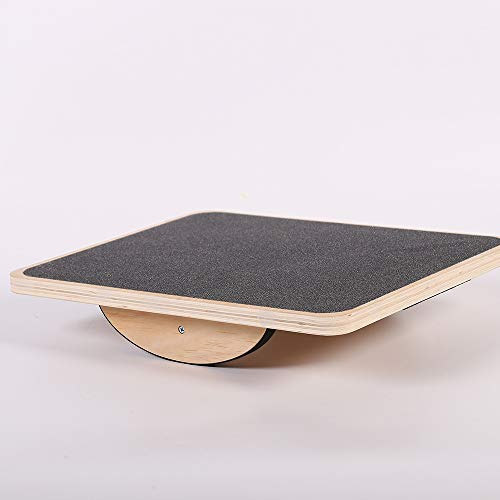 Best Bargain JDD Rectangular Wooden Balance Board Balance Training Equipment Indoor and Outdoor Spor...