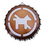 SOLUSTRE Signo de Luz de Cafetería Bar No Se Permiten Mascotas Signo Vintage Retro Industrial Tapa de Botella de Cerveza LED Neón Decoración de Pared Americana para Cerveza Bar Club Pub