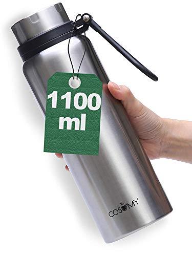 Termo Cafe para Llevar - Grande 1 Litro - Antigoteo - Botella Termica - Para Bebidas Calientes y Frias