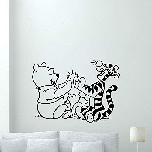 Tianpengyuanshuai Freunde Wandaufkleber Home Decoration Schlafzimmer Bär Bewegliche Wandtattoos Teenager Raumdekoration 69X63cm