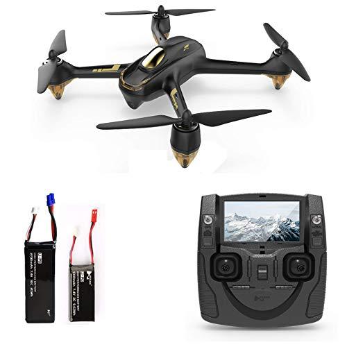 HUBSAN H501S X4 Brushless Drone GPS 1080P HD Cámara FPV Cuadricóptero con H901A Transmisor Negro Estándar Versión(2 Baterias de Drone)