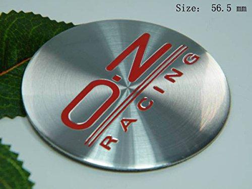 R105 OZ 2 stück rot Felgendeckel 3D Emblem Abziehbild Auto Aufkleber Nabendeckel Radkappen Nabenkappen 56,5 mm