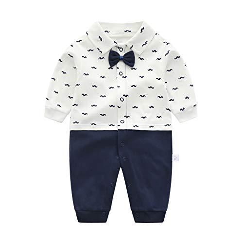 PROTAURI Junge Strampler, Baby Outfit Gentleman Style Langarm Overalls Jumpsuit Schlafanzug Outfits für 0-3 Monate