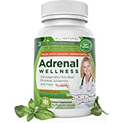 Dr. Danielle Adrenal Wellness, Organic Ashwagandha Root Powder, Stress Support, Anti-Anxiety & Thyroid & Mood Support, Siberian Rhodiola, Ashwagandha Supplement for Stress Relief, 120 Veggie caps