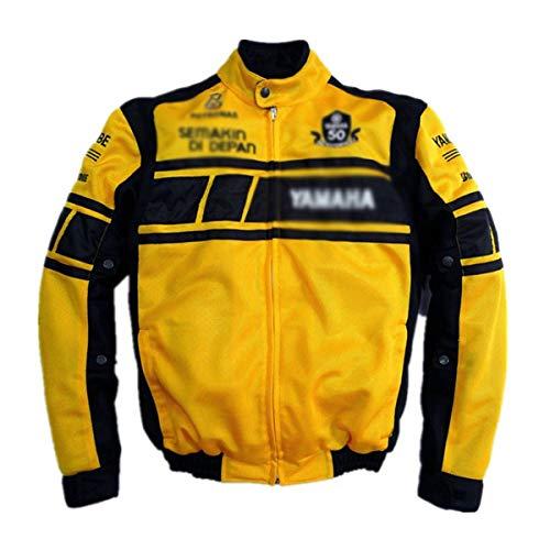 EVFIT Chaqueta de carreras de moda para todo terreno, traje de carrera, locomotora, resistente a la rotura, ropa de verano para hombres (color: amarillo, tamaño: XXXL)