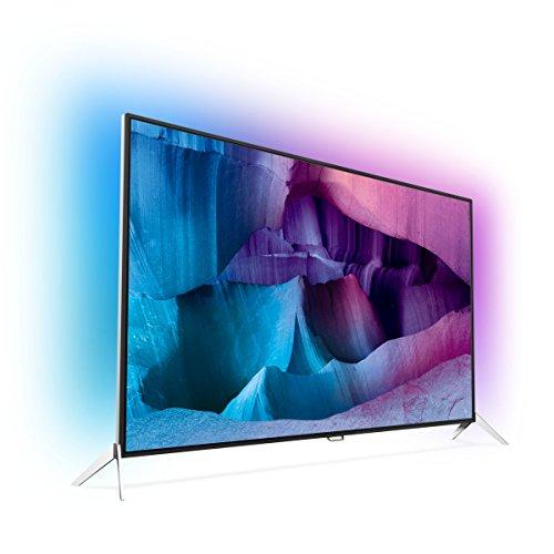 Philips 48PUS7600/12 Ultraflacher 4K UHD 121,92 cm (48 Zoll) LED-Fernseher mit 3-seitigem Ambilight schwarz