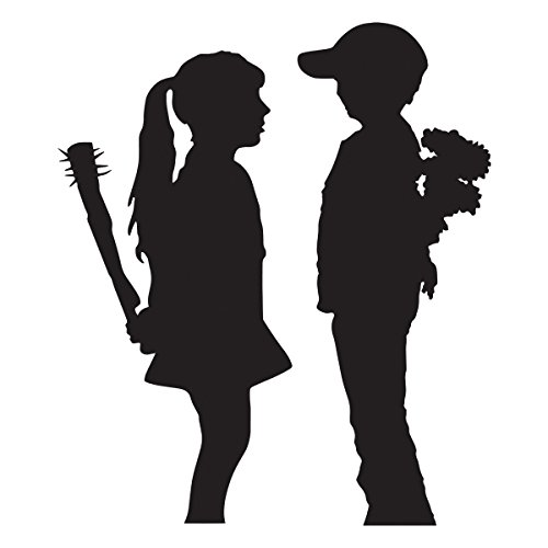 decorsfuk.co Banksy Boy und Girl | Art Wand Graffiti Vinyl Aufkleber | Urban Art Fenster, Auto, Laptop Aufkleber - Small - 13x11cm