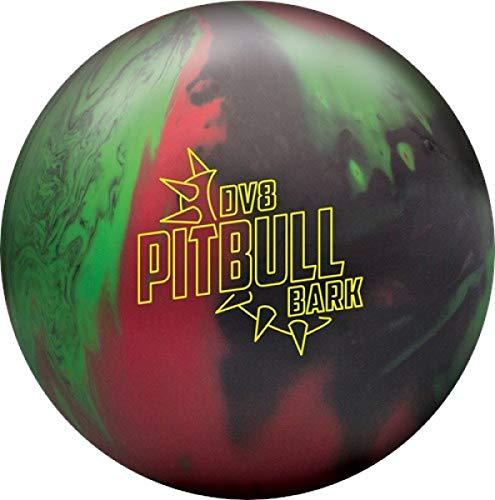 DV8 Pitbull Bark Schwarz/Rot/Grün Matte Oberfläche, Reaktiv Bowlingkugel für Einsteiger und Turnierspieler - inklusive 100ml EMAX Ball-Reiniger Größe 15 LBS