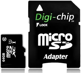 Digi-Chip Carte mémoire microSD 64 Go pour smartphones Samsung Galaxy A10, A20, A30, A40, A50, A60, A70, A90, A10s, A20s, ...