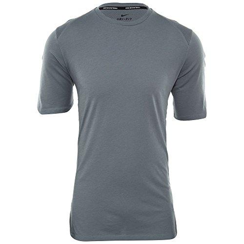 Nike M Nk Brthe Ss Elite Camiseta de Manga Corta de Baloncesto, Hombre, Gris (Cool Grey / Cool Grey / Cool Grey / Black), M