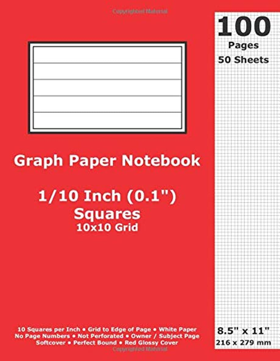 いくつかの届けるしゃがむGraph Paper Notebook: 0.1 Inch (1/10 in) Squares; 8.5