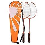 VGEBY Raquettes de Badminton Une Paire de Raquettes de Badminton Ensembles complets de Badminton avec Sac