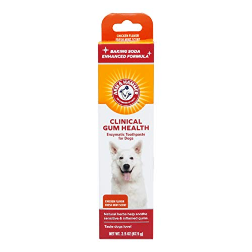 Arm & Hammer Clinical Care Dental Enzymatic Toothpaste for Dogs | Soothes Inflamed Gums | Safe for...
