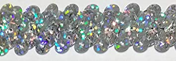 2 Row Black 3//4 Many Colors Available Stretch Sequins Trim 18 Yards