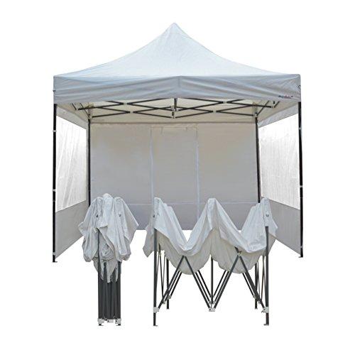 France-barnums - Tente Pliante - Tonnelle Acier 3mx3m Blanc avec Pack Fenêtres