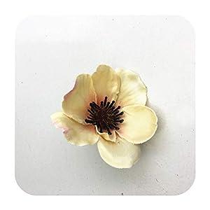 PrettyR 15Colors 7CM Artificial Silk Poppy Flower Heads for DIY Wedding Decoration Hairpin Wreath Accessories Festival Supplier-14-25 Pieces