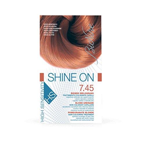 BioNike Shine On Hs Trattamento Colorante Capelli Biondo Melograno 7.45-1 Confezioni da 75 milliliters