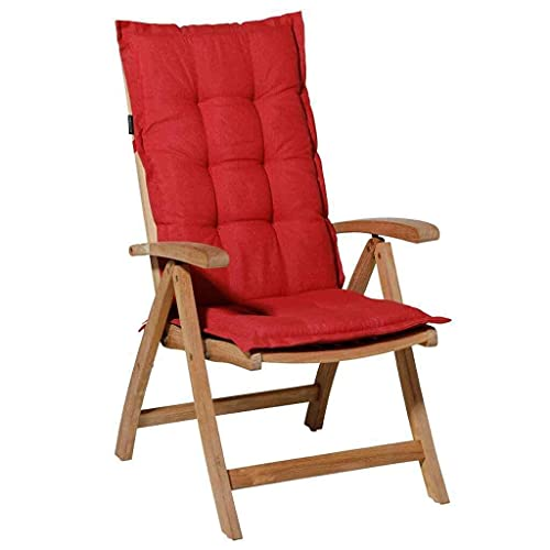 Hochlehner Auflage 123x50cm Ziegelrot Stuhlauflage Sitzauflage Kissen