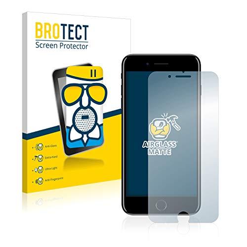 BROTECT Protector Pantalla Cristal Mate Compatible con iPhone 7 Plus / 8 Plus Protector Pantalla Anti-Reflejos Vidrio, AirGlass