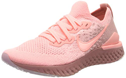 Nike Women's Epic React Flyknit Running Shoe, Pink, Size 7.5