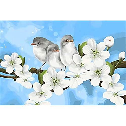 Rompecabezas de Madera Puzzle de 1000 Piezas Juego de Diversión Familiar para Regalo Decoración Hogar Juguetes de Rompecabezas para Niños Niñas(75x50 cm) Flores Blancas