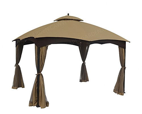 APEX GARDEN Replacement Canopy Top for Lowe's Allen Roth 10X12 Gazebo #GF-12S004B-1