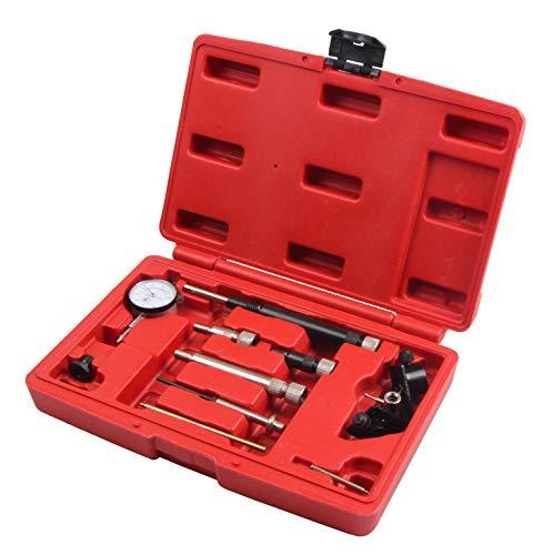 SLPRO 10-TLG. Dieselpumpe Einstell Werkzeug Einspritzpumpe Motor Einstellwerkzeug für KFZ Messuhr Bosch Lucas Kompatibel mit VE/verschiedener Dieseleinspritzpumpe