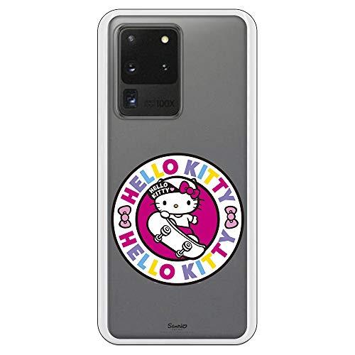 Personalaizer Funda para Samsung Galaxy S20 Ultra - Hello Kitty. Fundas Bonitas Chicas para móvil. Carcasas Bonitas (Hello Kitty Urban con Fondo Transparente)