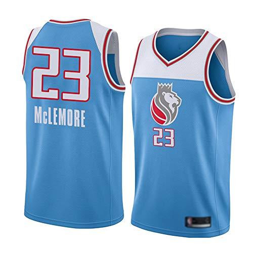 Wo nice Jerseys De Baloncesto De Los Hombres, Sacramento Kings # 23 Ben McLemore Uniformes De Baloncesto De Verano De La NBA, Camisetas Sin Mangas, Camisetas Casuales Transpirables Tops,Light Blue