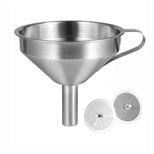 Sovol 3D Printer Stainless Steel Filter Funnel Resin Filter Cup for UV Resin, Double-Strainer Filter for 3D Printing Liquid, Photosensitive Resin Metal Recycle Filter for SLA/DLP/LCD