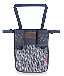 Large expandable mesh pocket extends down the back of your buggy, perfect for toys, snacks, or a change of clothes Features a smaller compartment ideal for keys, cell phone and valuables; include two bottle pockets Adjustable velcro straps attach nic...
