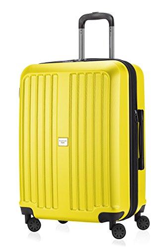 HAUPTSTADTKOFFER - X-Berg - Koffer Trolley Hartschalenkoffer, TSA, 65 cm, 90 Liter, Gelb matt